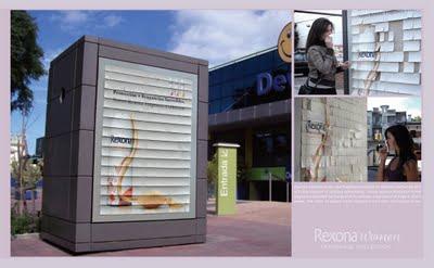 delicious Пахнущие рекламные щиты Rexona