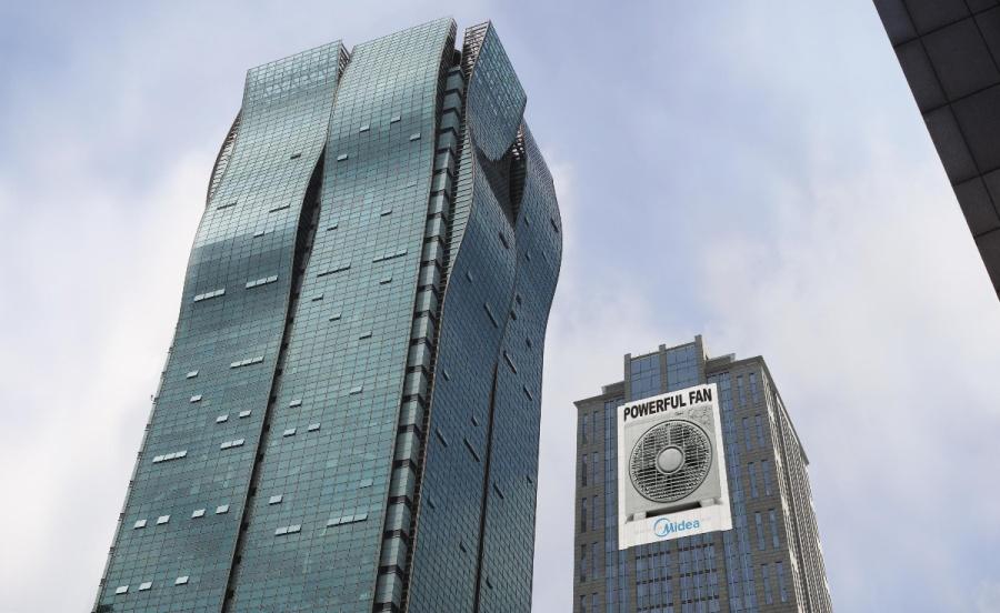 fan Партизанский вентилятор сдует здание