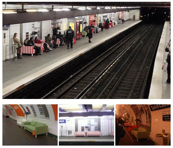 IKEA1 Немного уюта в парижском метрополитене