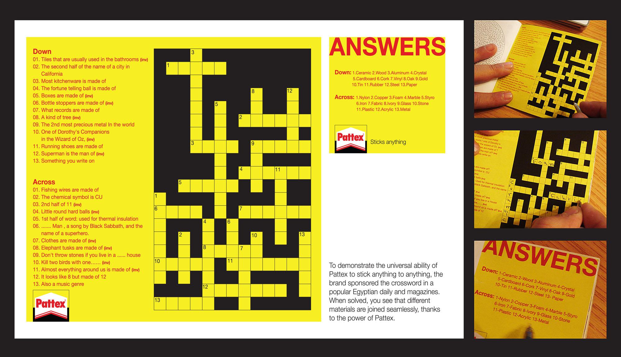 crosswordsHenkel Материалы соединяются без швов   партизанский кросворд