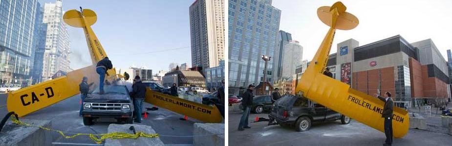 2 Катастрофа на улицах Монреаля   партизанский маркетинг нового ТВ шоу