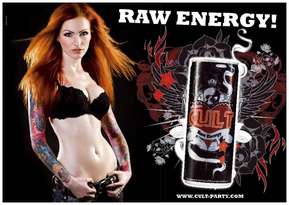 CULT Raw Energy Billboard1 CULT   адская энергия (видео (титьки))