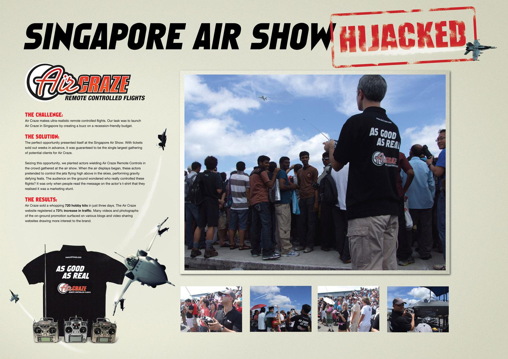singapore AirCraze Как чудак с пультом увеличил посещаемость сайта на 73%
