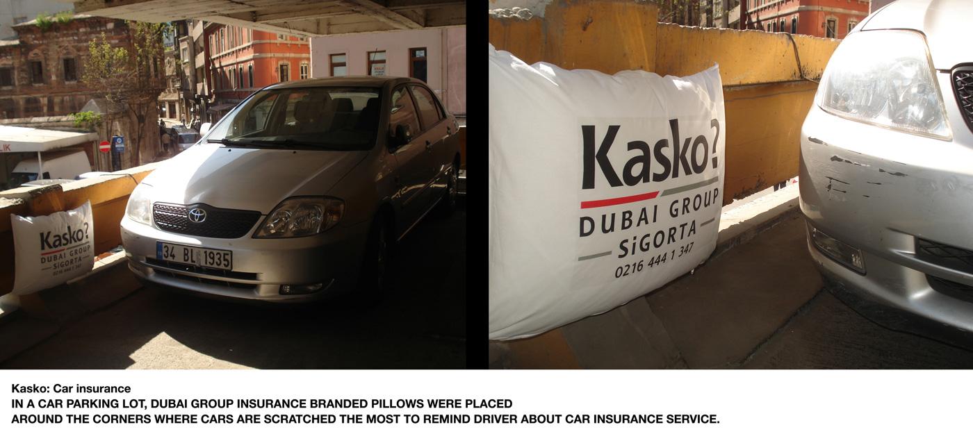 Kasko Car Insurance Pillow Снова подушки помогают партизанам